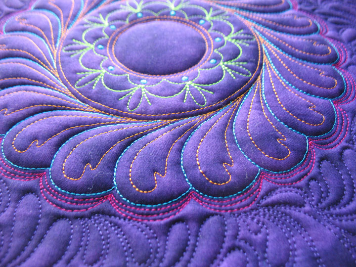 quilted card k