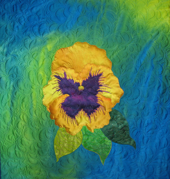 Pansy-wallhanging