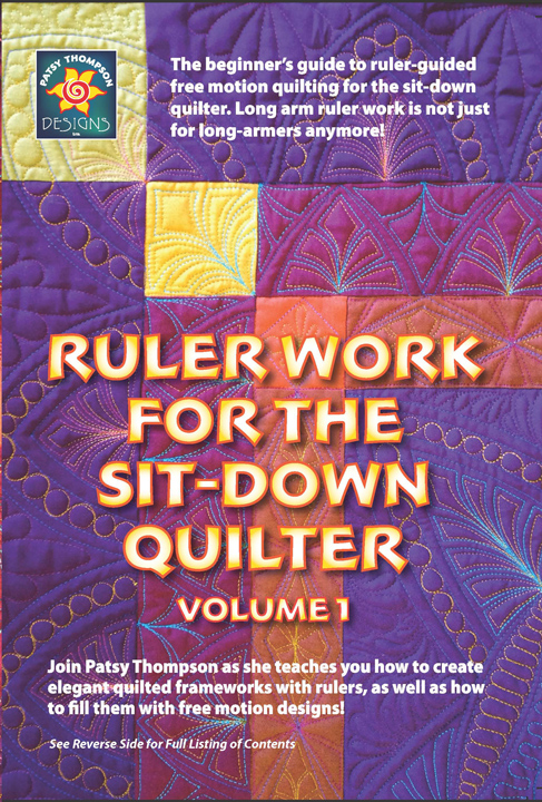 resized Ruler Work for the Sit Down Quilter Front Cover