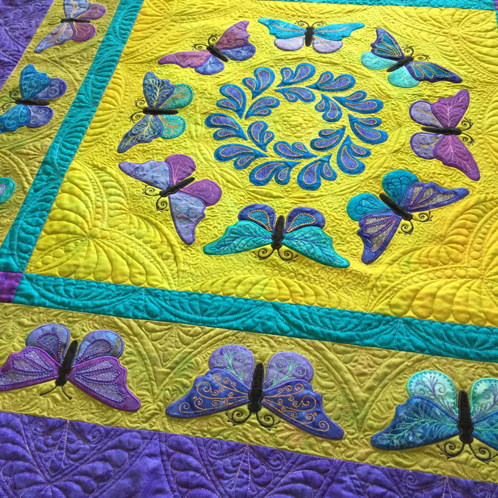 Patsy Thompson Designs Ltd Kissed By Butterflies Quilt Is Done