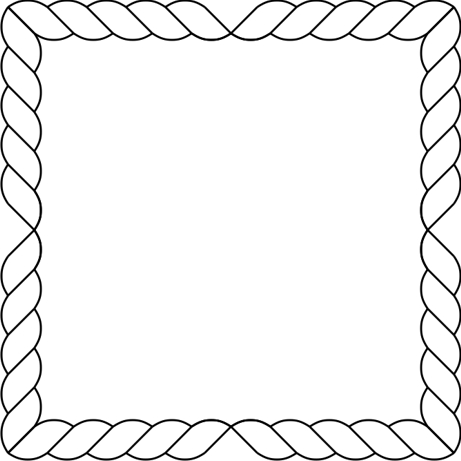 rope template in corners